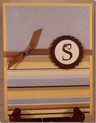 monogram s stripes indiv card