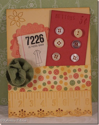 button card sewing themed card