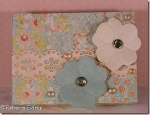 gift box pearls and flowers