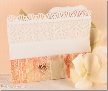 daffodil gift card holder inside