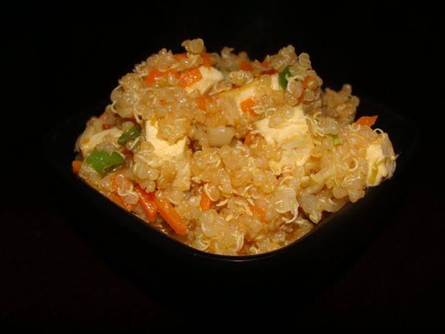 CQuinoa with stir fried veggies
