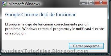 Chrome Dejo de Funcionar