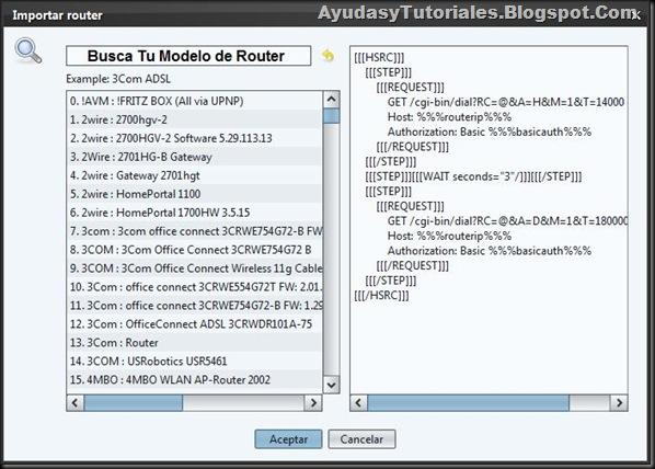 Importar Router - JDownloader