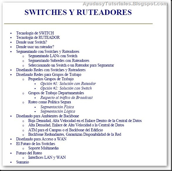 Curso de Switches y Routers - AyudasyTutoriales