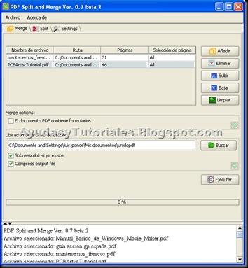 PDF Split adn Merge - AyudasyTutoriales
