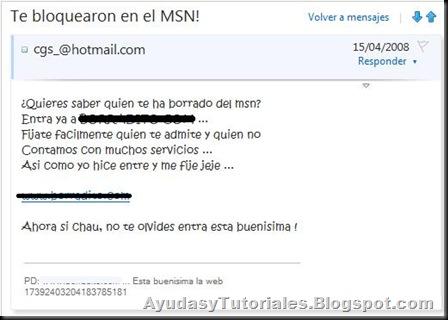 Te Bloquearon en el MSN! - AyudasyTutoriales