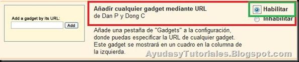 Añadir Gadget mediante URL - AyudasyTutoriales