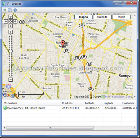 IP-Locator - AyudasyTutoriales