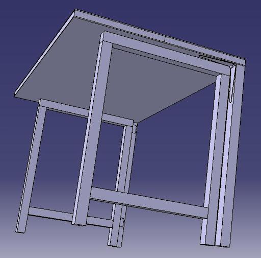 Radici il tavolo da lavoro nel box for Gambe pieghevoli per tavoli fai da te