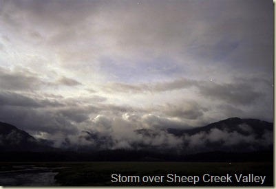 Storm over Sheep Creek Valley