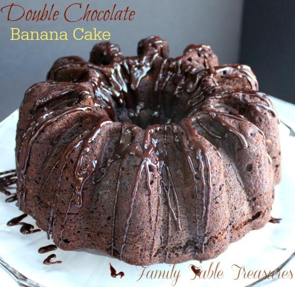 Double} Chocolate Banana Cake {with Coconut Milk Ganache} Recipe ...