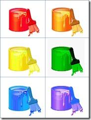 Colors File Folder Game Sample