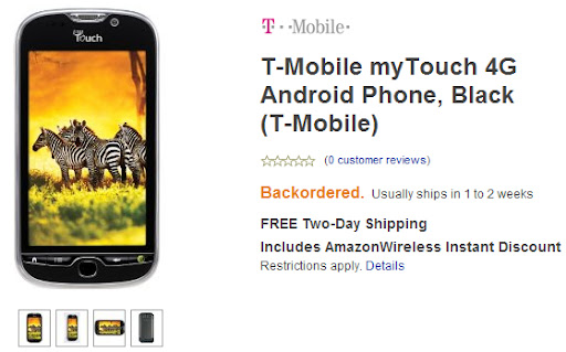 myTouch 4G AmazonWireless