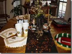 Saints tablescape