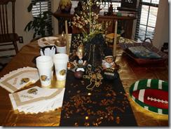 Saints tablescape