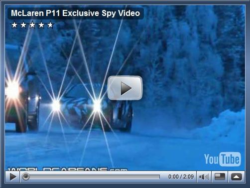 Video: McLaren P11 é flagrado em testes na europa