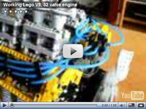 Video – Motor V8 DOHC feito de Lego