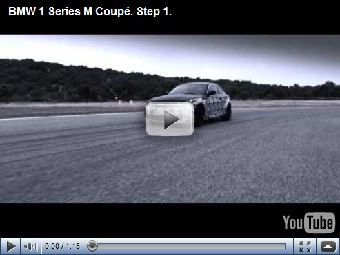 BMW divulga video do novo Serie 1 M-Coupé