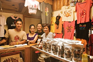 The Owner, Monette Masferre and her Children at the Gift Shop