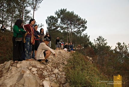 Early Morning Risers Waiting for the Sunrise at Sagada's Kiltepan Viewpoint