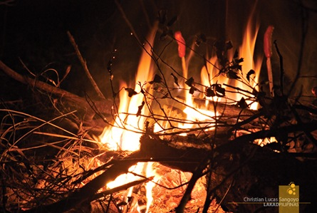 Bonfire at Sagada's Lake Danum