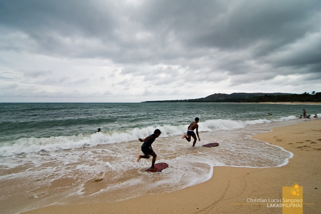 Synchronized Skimboarding at Pagudpud's Saud Beach