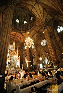 A View of San Sebastian's Main Altar