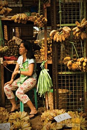 Woman Selling Bananas at Pasig Market