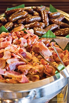 Fried Bacon and Longanisa at Grills & Sizzles