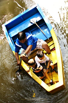Boating at the Lagoon at the Manila Zoo