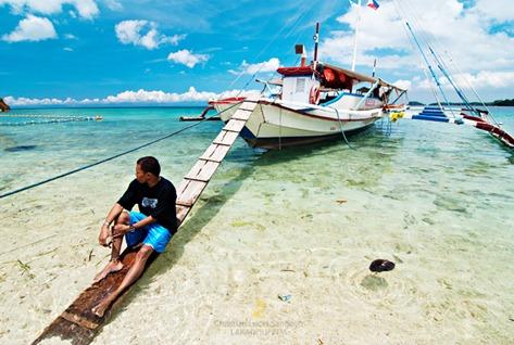 A Local Boatman at Alubihod Beach, Nueva Valencia