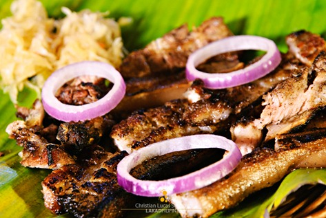 Pork Liempo at Kawayanan Grill Station