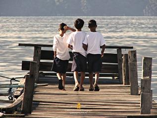 Kids Hanging Out at Coron's Lambingan Bridge