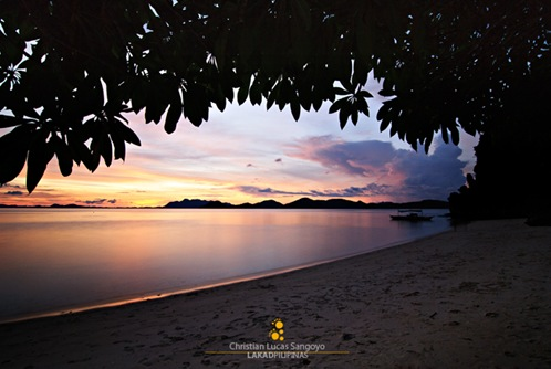 Magenta Twilight at Coron's Banol Beach
