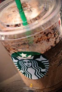 Dark Mocha Frap on the new Starbucks Logo