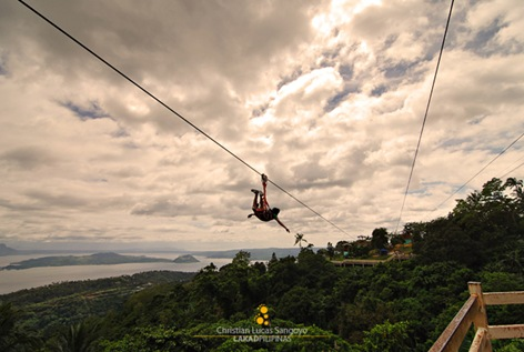 Zip Line with a View of Taal