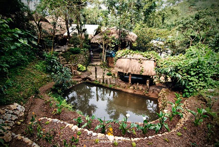 Top View of Tam-Awan Village in Baguio City