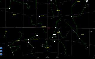 Screenshot of Star map