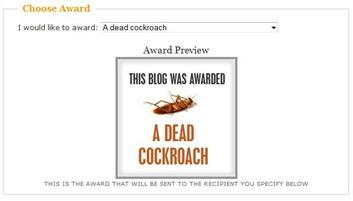 dead cockroach award