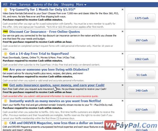 Easy Cash - Kiém Tiền Trên Facebook Tặng Ngay 1 USD Khi Đăng Kí [Tương Tự Làm Offer]