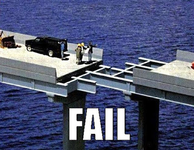 Bridge fail!