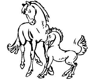 dibujos-animales-colorear-caballos