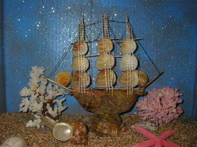 Como hacer manualidades con conchas de mar car interior - Como hacer conchas finas ...