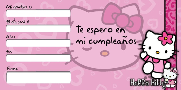 Tarjeta Hello kitty