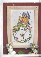 Reloj hada con flores foto