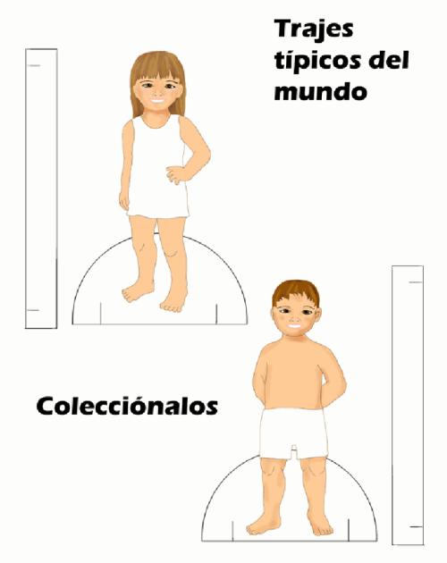 vestir con trajes típicos del mundo   Colorear dibujos infantiles