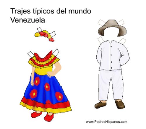 Muñecas para vestir con trajes típicos del mundo | Colorear