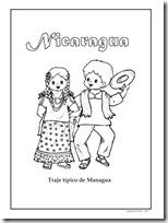 Colorear trajes tpicos de Nicaragua  Colorear dibujos infantiles