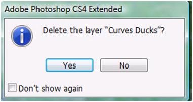 Delete Adjustment Layer