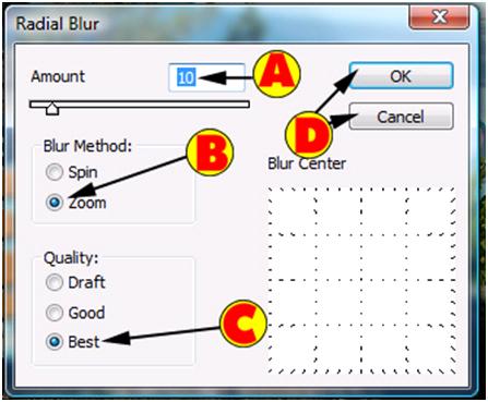 Radial Blur Options